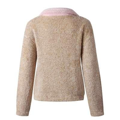 Fashion Gored Zipper Pocket Lapel Long sleeve Coats