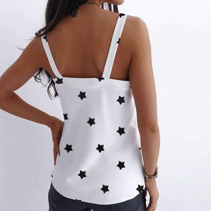 Fashion Casual Print V neck Vests