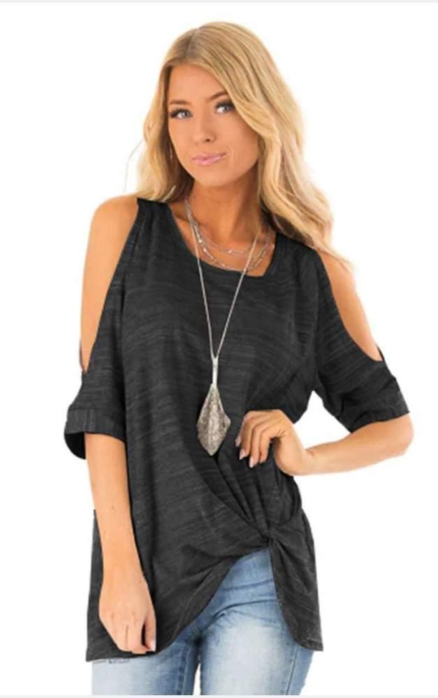 Fashion Round neck Off shoulder Short sleeve T-Shirts