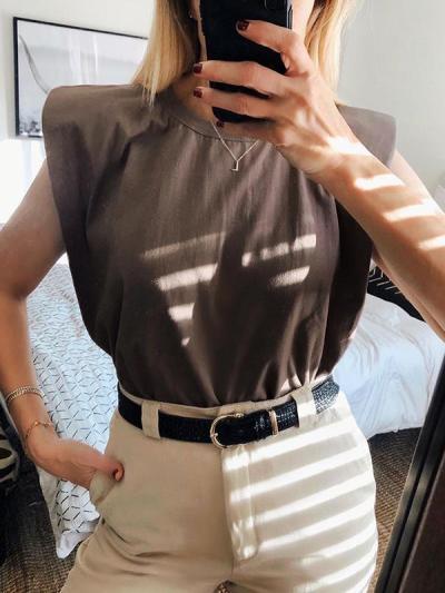Women Plain stylish  T-shirts