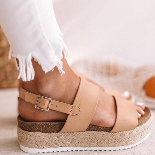 Women Casual Espadrille Platform Sandals