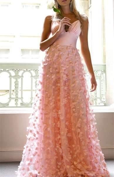 Sexy Pure V neck Vest Evening Dresses