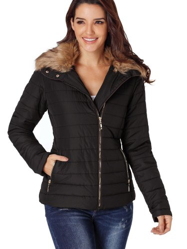 Women Fur collar Long sleeve Coats