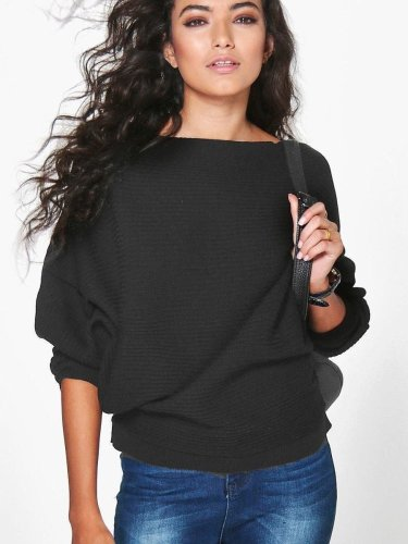 Fashion Batwing Loose Knit Sweaters