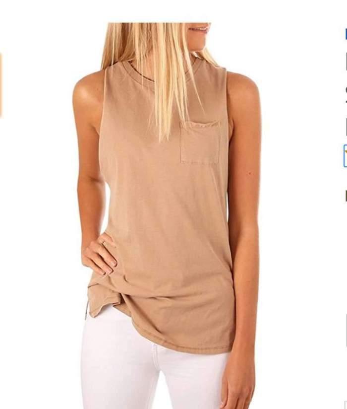 Sexy Pure Sleeveless Vests
