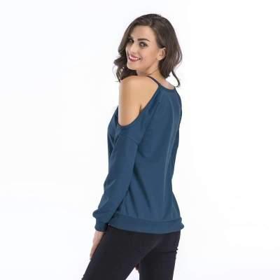 Pure Off shoulder Long sleeve Vest T-Shirts