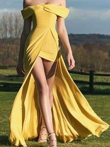 Sexy Off shoulder Vent Maxi Dresses