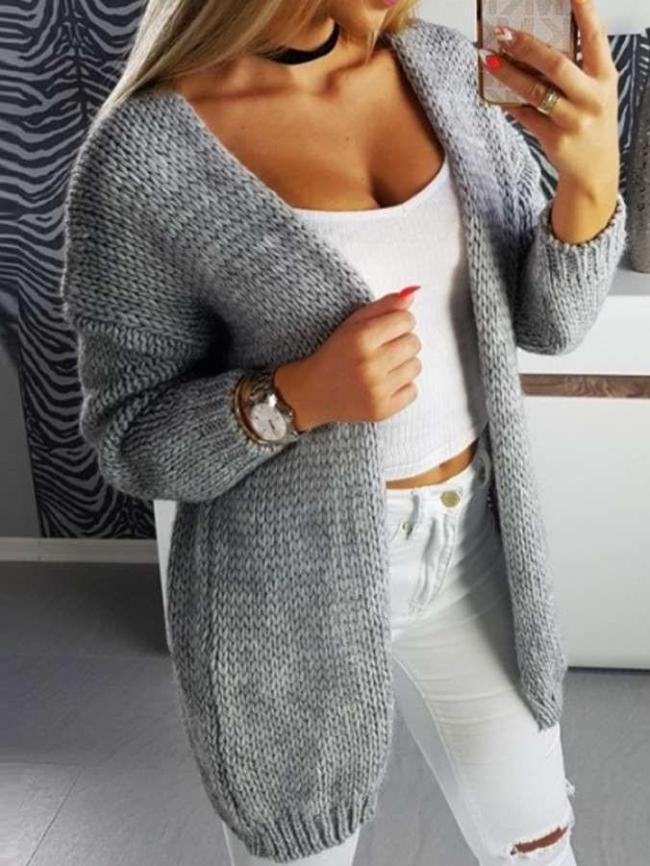 Ladies sweater winter Long women sweater cardigan