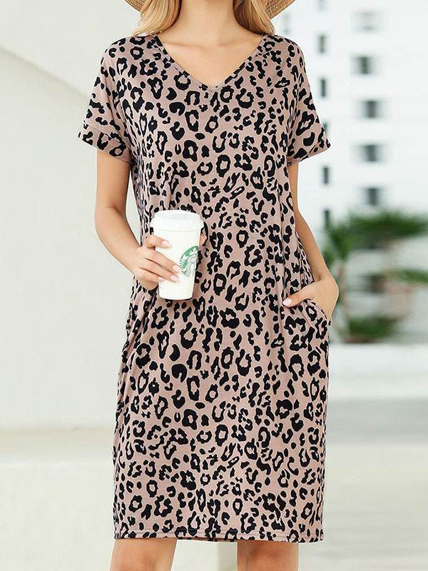 Comfy Women Leopard printed shift dresses