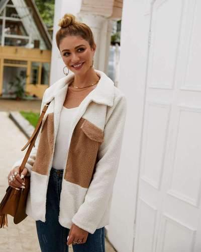 Fashion Gored Lapel Long sleeve Coats