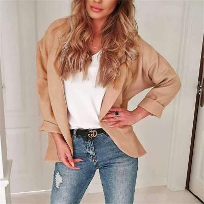 Casual Pure Long sleeve Irregular Coats