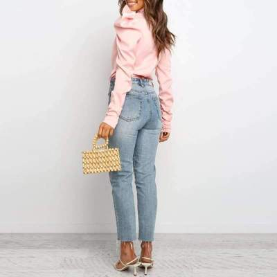 Fashion Pure Lacing Long sleeve Blouses