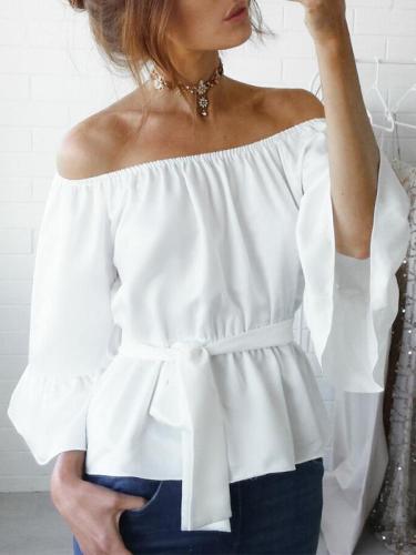 Fashion Women's Ladies Summer Long Sleeve Loose Casual Shirt