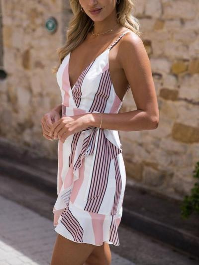 Sexy Fashion Printed Woman Skater Mini Dresses
