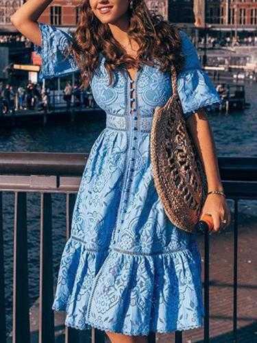 Women fashion lace v neck maxi dresses