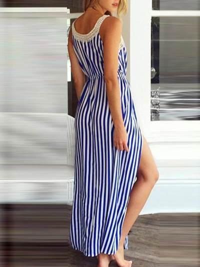 Sexy Printed Women Strap Maxi Dresses