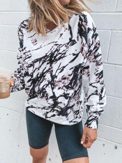 Fashion Print Round neck Long sleeve T-Shirts