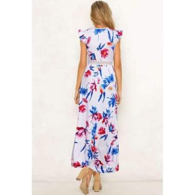 Fashion Print Sleeveless Maxi Dresses