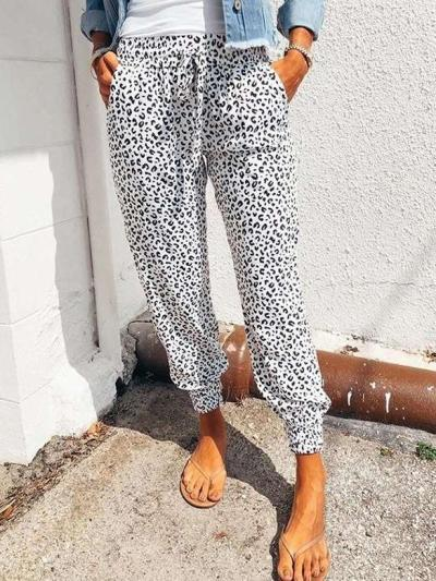 Fashion Sexy Casual Leopard print Pants