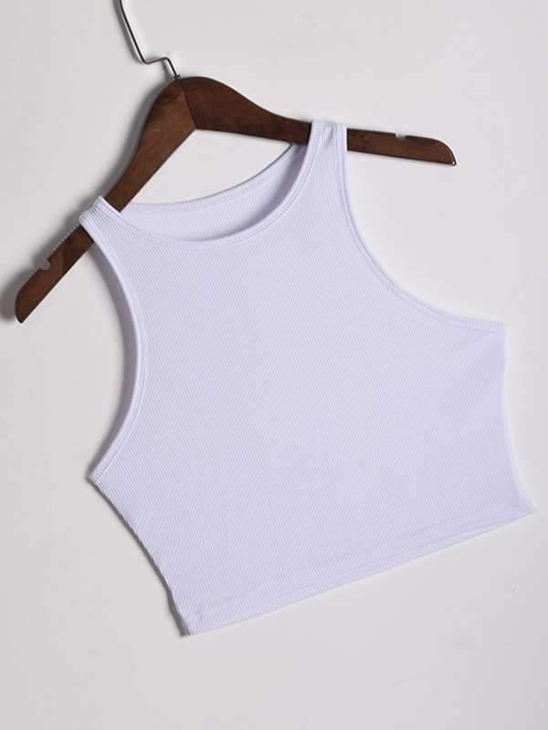 Summer inner plain sleeveless vests