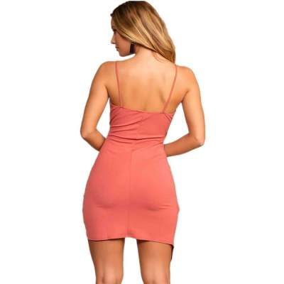 Sexy Vest V neck Irregular Skater Dresses