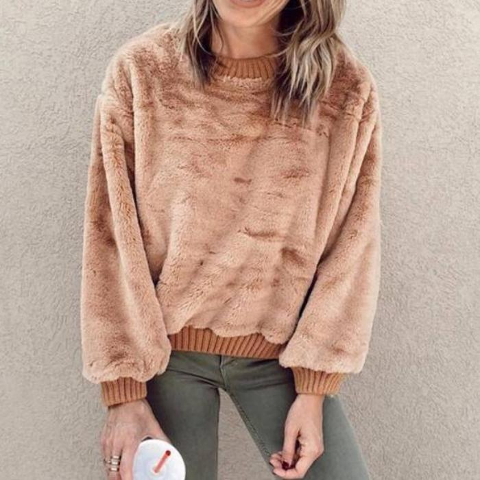 Fashionable Round Neck Down Pullover Hoodies