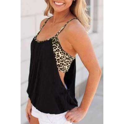 Leopard print Vest T-Shirts