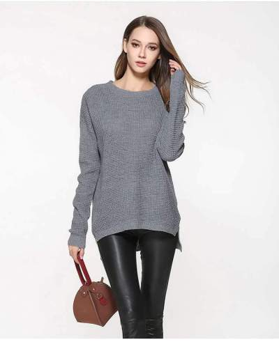 Fashion Plus Loose Knit Long sleeve Sweaters