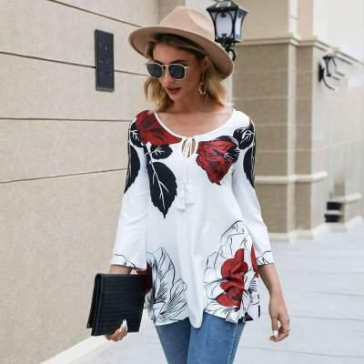 Fashion Print Round neck Long sleeve T-Shirts