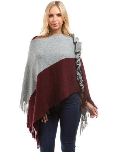 Knit Tassels Cape Lace coat