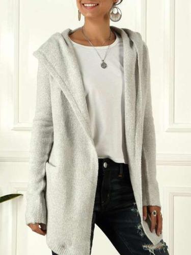 Casual Loose Knit Hoodies Coats
