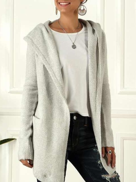 Casual Loose Knit Hoodies Coats