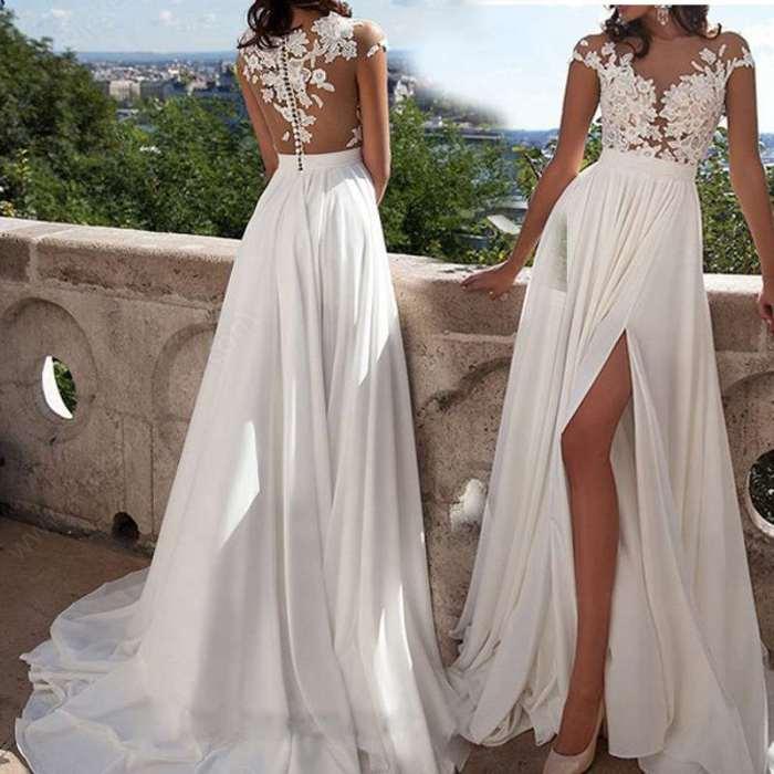 Fashion Pure Round neck Lace Evening Dresses