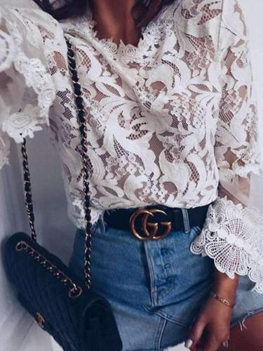 Long sleeve Lace T-Shirts
