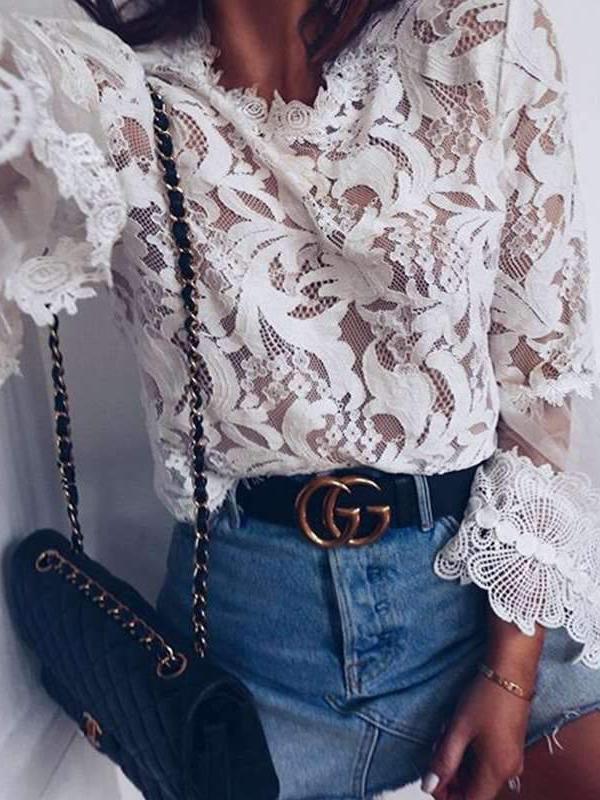 Long sleeve Lace T-Shirts