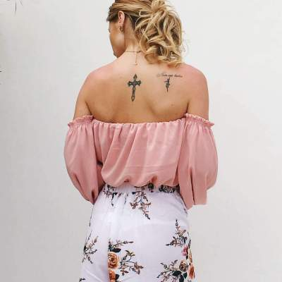 Sexy Off shoulder Puff sleeve T-Shirts