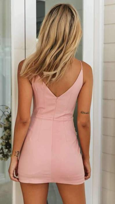 Pure Sexy Backless Vest Bodycon Dresses