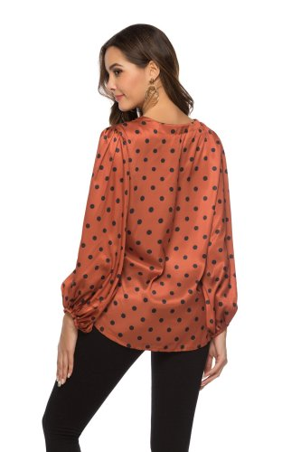 Fashion V neck Loose Blouses