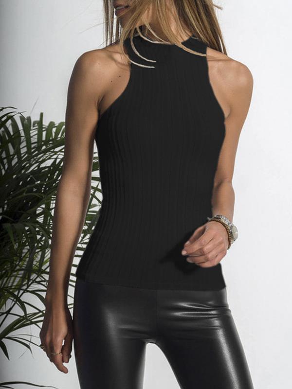 Sexy Plain women sleeveless shirt vests