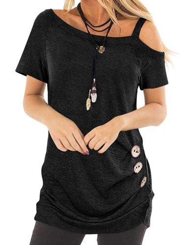 Fashion Pure Off shoulder Vest T-Shirts