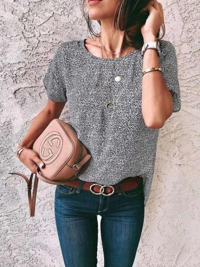 Fashion Round neck Short sleeve T-Shirts