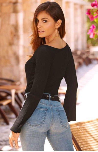 Sexy Deep V Collar Button Slim Fit T-Shirts