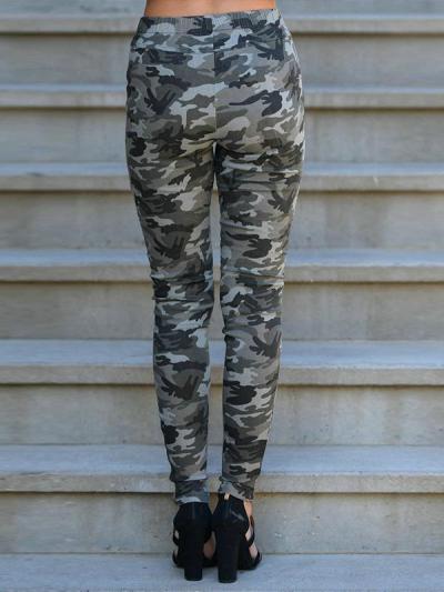Fashion Camouflage Slim Pencil Pants