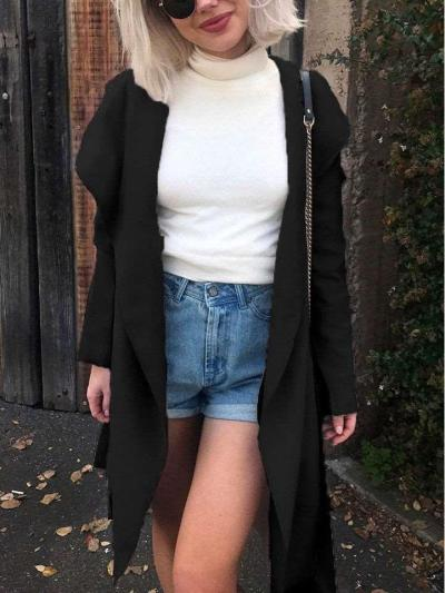Fashion Tee Lapel Long sleeve Coats