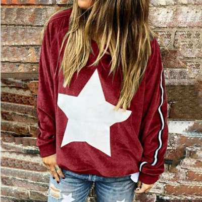 Fashion Casual Print Round neck Long sleeve Sweatshirts