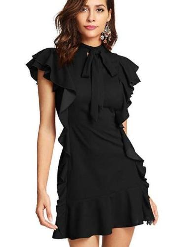 Fashion Falbala Bowknot Skater Dresses