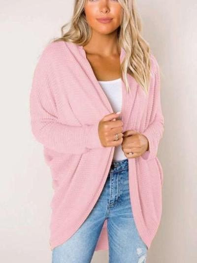 Fashion Pure Women Long sleeve Knit Coats