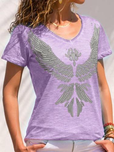 Women Summer Printed Short Sleeve T-shirts