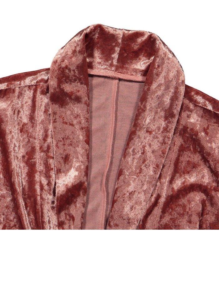 Autumn Velvet Plain Young Thin Coats