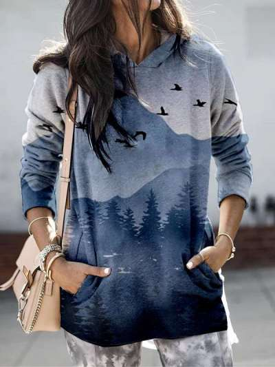 Fashion Casual Classics Print Hoodie Long sleeve Sweatshirts